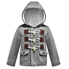 Christmas Clothes Coat Baby Boys Autumn Winter Warm Outerwear Thicken Hooded Fau