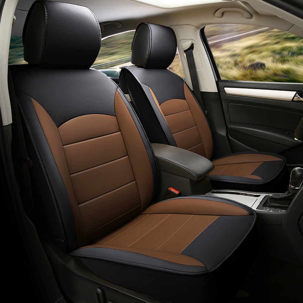 7PCS  Luxurious Leather Automobiles Car Seat Cover  5 Seats Universal Car Seat Cover With Back Bag Car Accessories universal pu leather car seat covers for toyota corolla camry rav4 auris prius yalis avensis suv auto accessories car sticks
