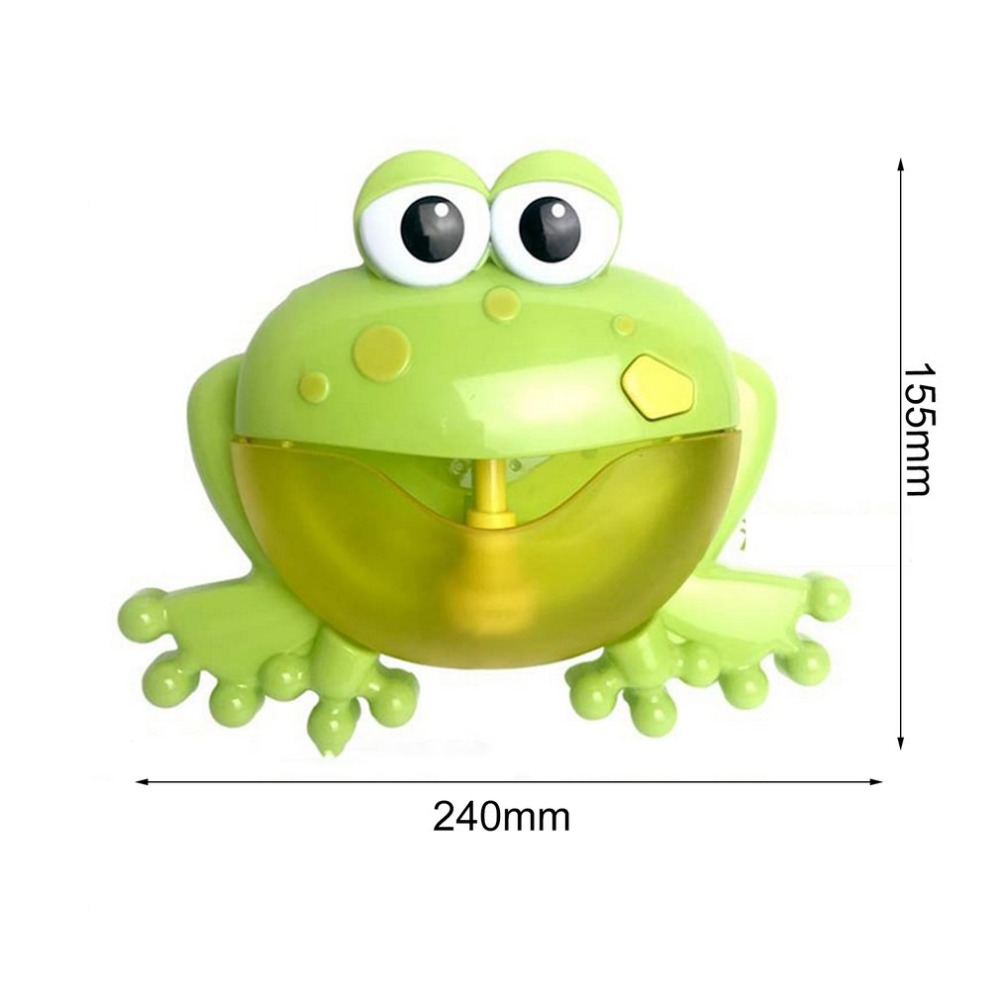 Купить с кэшбэком Bath & Shower Cartoon Cute Frog Automatic Bubble Machine Blower Maker Party Summer Outdoor Toy Bubble Generate Toy for Kids