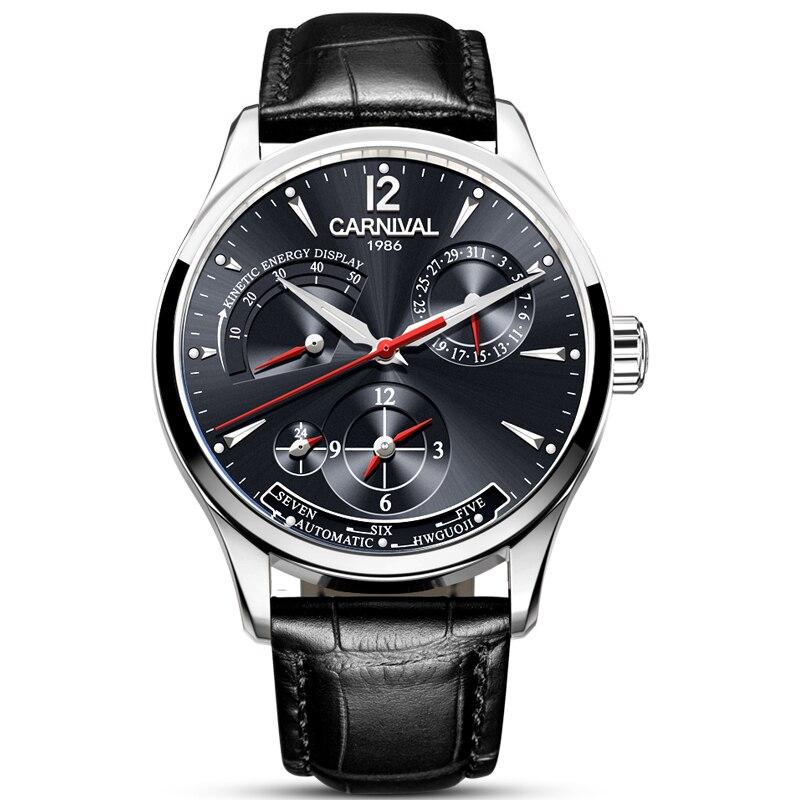 Corgeut de marca de lujo, relojes de pulsera mecánicos automáticos para hombre, de cuero, para nadar, para Deporte Militar - 2