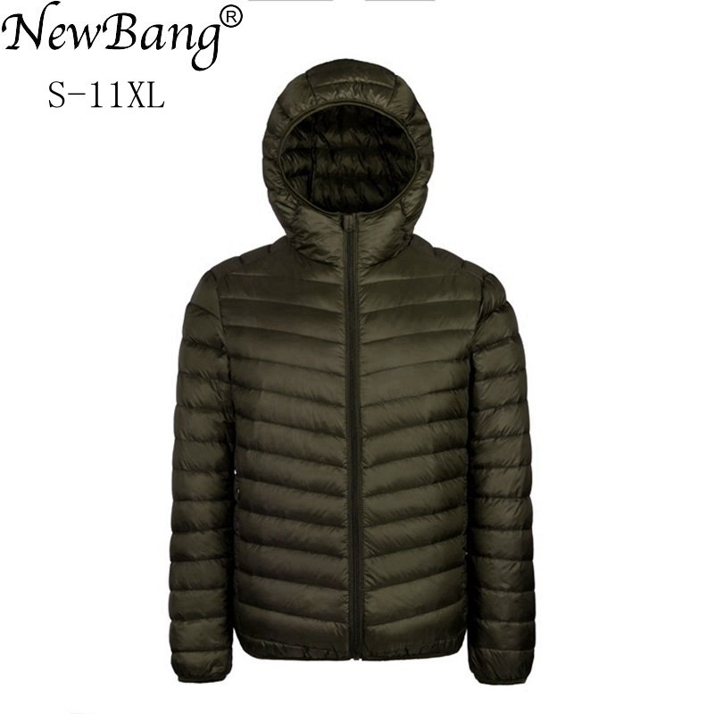 NewBang Plus 9XL 10XL 11XL Down Coat Male Large Size 90% Ultra Light Down Jacket Men