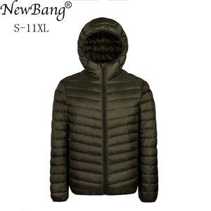 Image 1 - Пуховик NewBang Plus 9XL 10XL 11XL, мужской пуховик большого размера, 90% Сверхлегкий пуховик, мужское теплое пальто с капюшоном, парка с перьями