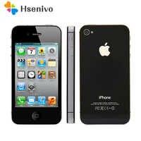 IPhone Desbloqueado originais Telefone 4S 16 GB GB GB ROM Dual core WCDMA 3 64 32G WIFI GPS 8MP câmera Usada apple telefone Celular remodelado