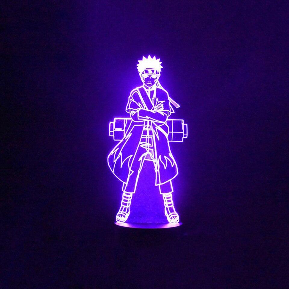 7 Cambiamento di Colore del Led 3D di Visual Naruto Modellazione Anime Figura di Notte luce Bambini Pulsante a Sfioramento Usb Lampada Da Tavolo Illuminazione Della Decorazione Della Casa Regalo