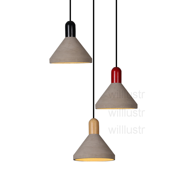 Willlustr cement suspension lighting dinning room living room wood cap hotel restaurant hanging lamp concrete pendant light willlustr concrete pendant light cement suspension lamp minimalist design nordic hanging lighting dinning room restaurant hotel