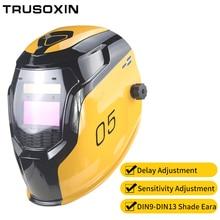 Samrt солнечная батарея LI Автоматическое затемнение TIG MIG MMA MAG электрическая Сварочная маска/шлемы/сварочная Крышка для сварочного аппарата