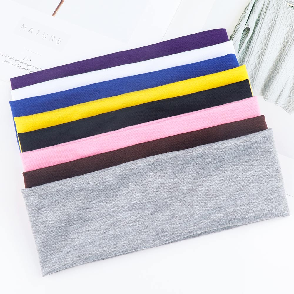 Yoga Hair Bands Sports Elastic Headbands For Women Fashion Outdoor Exercise Biker Wide Headband Tretch Ribbon Hairband