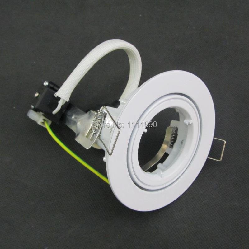 buy white round fitting gu10 led