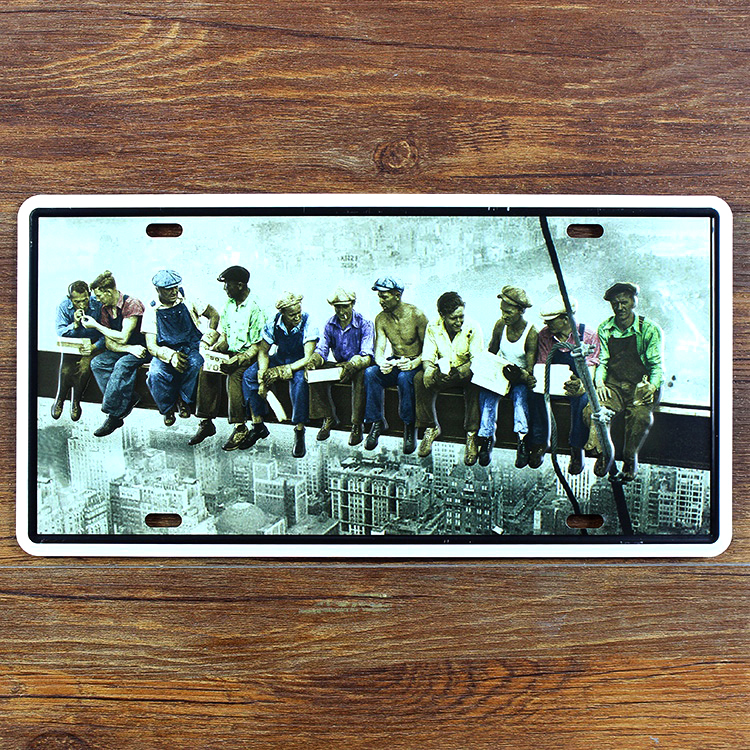 "RZ1530-087 vintage metalik slika ""Ostali radnici"" registarska pločica kafe bar ukrasni slikarski zid poster 15x30CM"