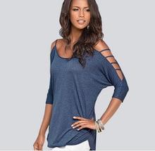 t shirt women tops tees summer Off shoulder Cotton tshirt woman clothes poleras de mujer camisetas femininas plus size WQ61