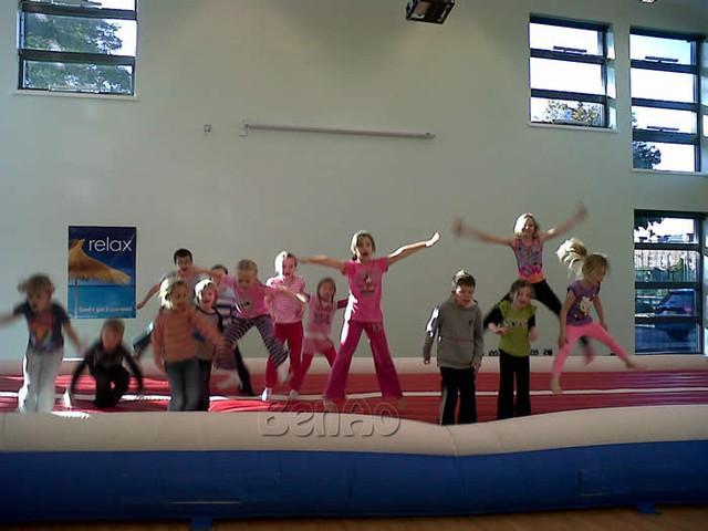 Envío Libre 12 m 39ft GA011 pista de aire inflable inflable tumble track gimnasia estera de aire inflable para el gimnasio