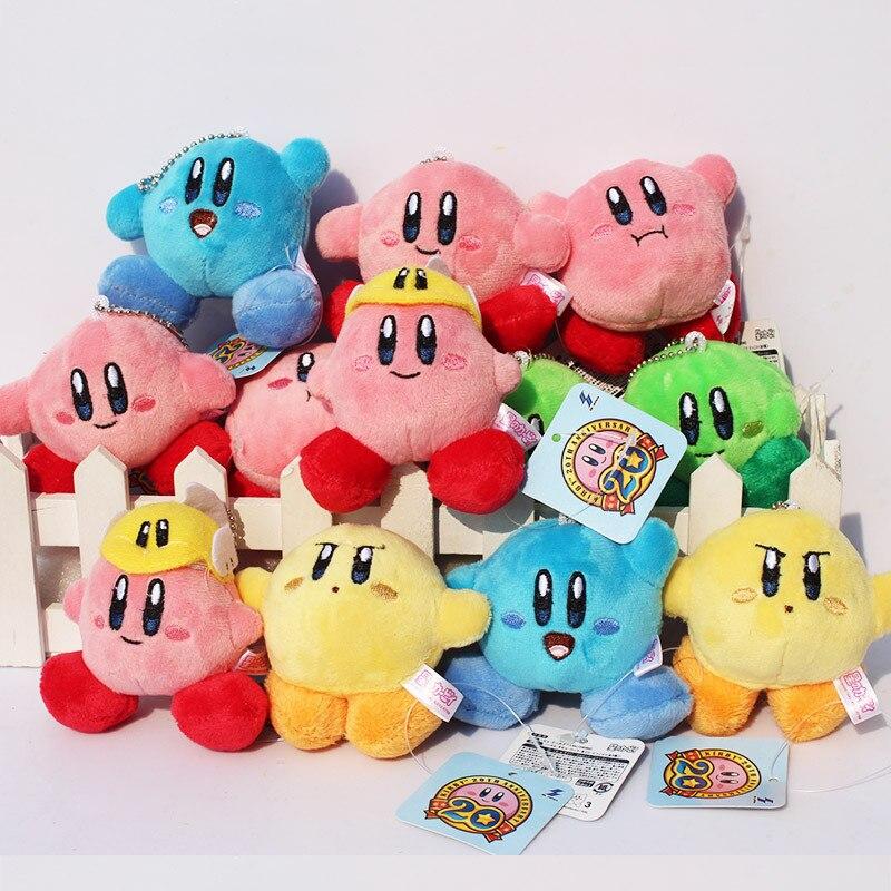 60pcs lot Cute Kirby Plush Keychains Stuffed Plush Dolls 6CM Wholesale
