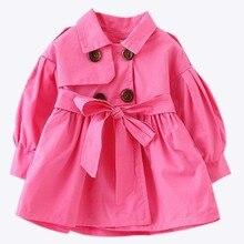 Новые модные Осеннее Детское пальто для девочек; Одежда для младенцев; для детская верхняя одежда для маленьких девочек s Костюмы плащ свободного покроя для малышей