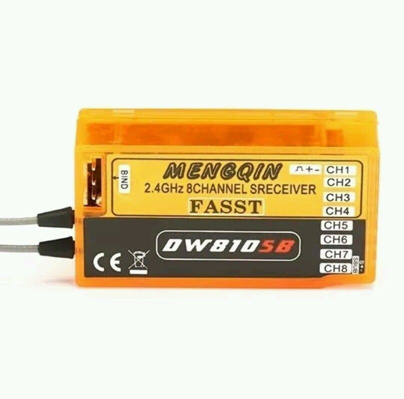 MENGQIN DW810SB 2.4G 8CH FASST Compatible Receiver With S.BUS Output for Futaba frsky tfr6 tfr6 a 7ch 2 4g receiver compatible with futaba fasst frsky tfr6 t8fg 10cg 14sg tf module
