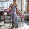 2017 Summer New Women S Retro Style Long Dress Chic Boho Maxi Beach Dress Women Holiday