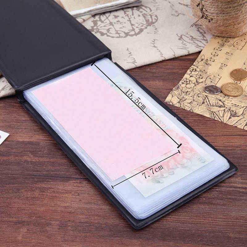 חדש Creative 20 דפים כסף אלבומים עבור העולם גלרית מחזיק כסף שטר אחסון מקרה נייר כסף אספן