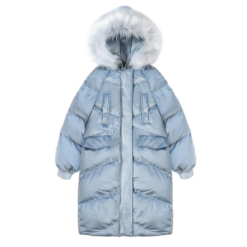 OLGITUM 2018 New Fashion Women's Cotton Coat winter Big Fur Jacket Long Women Parkas ladies coats female jackets CC574 цена