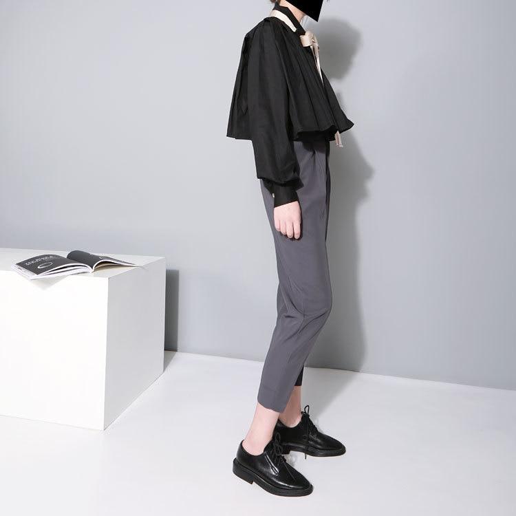 Cakucool Mujeres Sólido Casual Crop tops Blusa Loose Poncho Tops - Ropa de mujer - foto 6