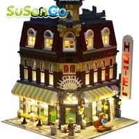SuSenGo Decorate Light Set For Model Make Create Cafe Corner Lepin 15002 Compatible With Lego 10182