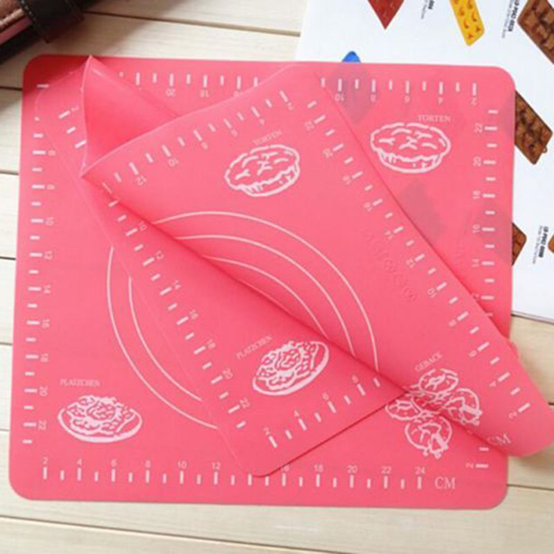 Nice Kitchen Cut Mat Rolling Cutting Pad Fondant Cake Chopping Blocks Dough Clay Calibration CN ...