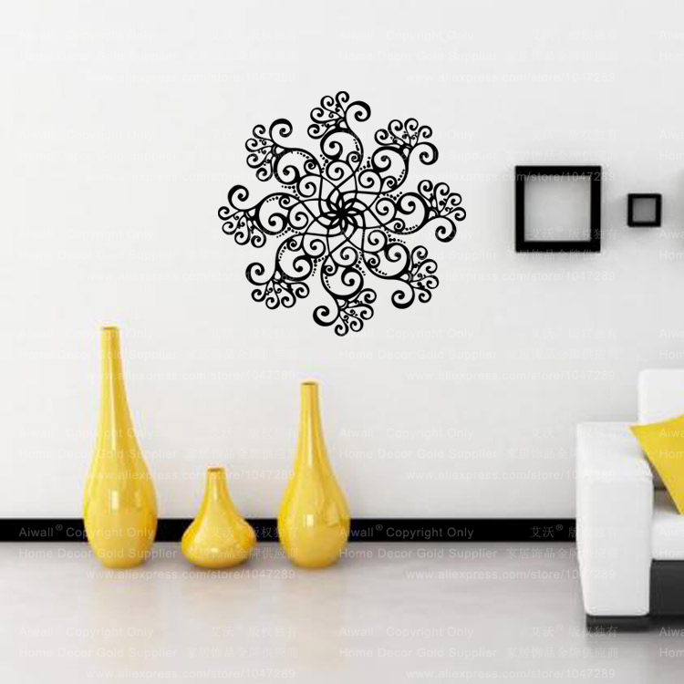 20bac625906 9484 Wall Mural Mandala Mantra Chakra Meditation Yoga Om Vinyl Wall Sticker  Home Decor