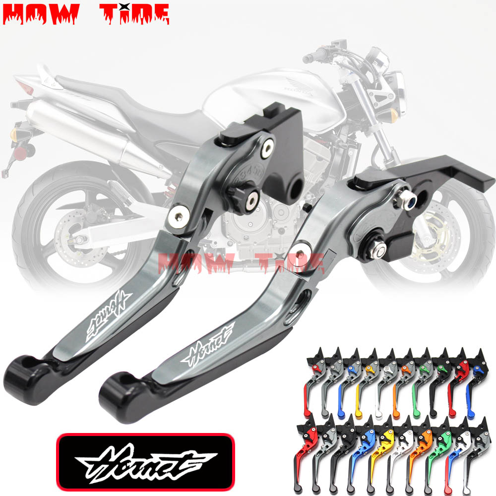 !With Logo CNC Motorcycle Brake Clutch Levers For Honda CB600F CB <font><b>600</b></font> F <font><b>Hornet</b></font> 2007-2013 <font><b>2008</b></font> 2009 2010 2011 2012 image