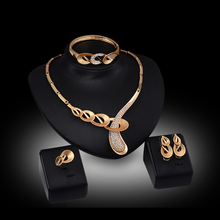 Fashion High Quality African Gold Color Vintage Style Women Wedding Jewelry Sets Luxury Elegant Design Necklace Sets