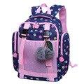 Новинка 2018  водостойкая школьная сумка с цветочным принтом для девочек начальной и старшей школы  школьный рюкзак для девочек