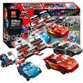 279pcs Bela 10012 Pixar cars 2 Ultimate Race Set Building Blocks Model Toys Kits Set Compatible With Lego