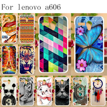 Anunob Painted Case For Lenovo A606 Silicone Soft TPU Cases A 606 Cover Protective Bags Cute Animal