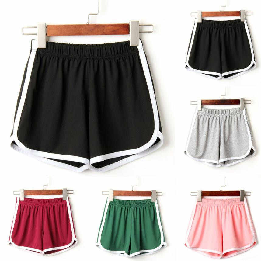 Vrouwen Lady daily Shorts Elastische Taille Eenvoudige Korte Feminino Knielengte Solid Casual shorts hot voor 90 s Plus Size zomer # py