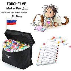 Sketch Art Marker Twin Tip Manga Animation Design Art Supplies for Painting Illustration 48/60/80/168 Color TouchFive Art Marker