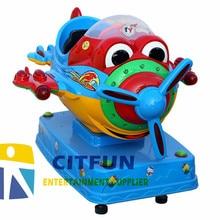 Большой Глаз монета Воздушный самолет детская езда, интерактивные звуки торговый автомат CIT-KR006E