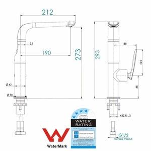 Image 5 - WASOURLF grifo de agua para cocina, con un solo orificio, frío y caliente, latón, blanco, cromo, para fregadero, ahorro de agua, marca de agua