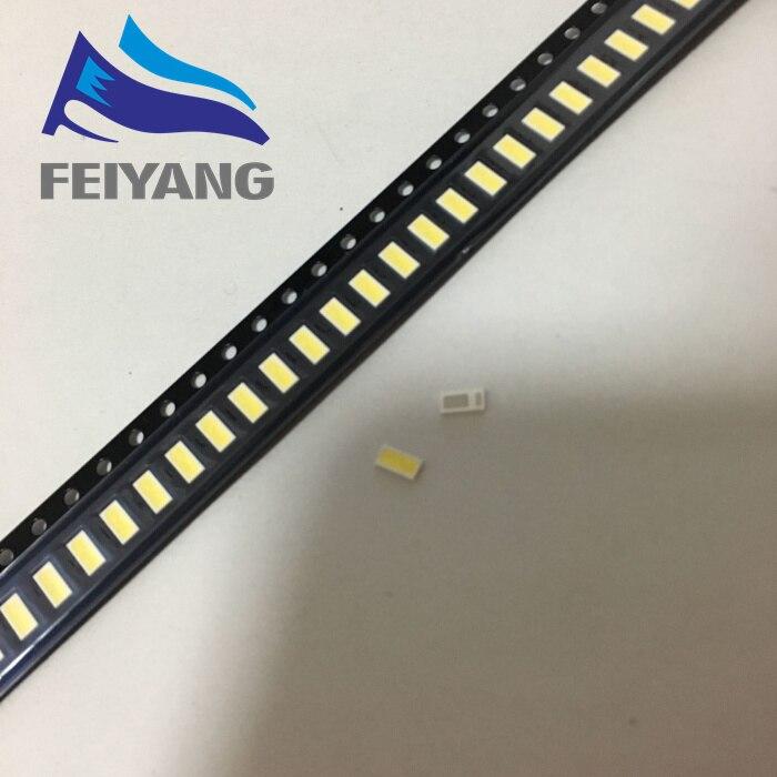 500PCS/Lot <font><b>4020</b></font> SMD <font><b>LED</b></font> Beads Cold white 1W 6V 150mA For TV/LCD Backlight