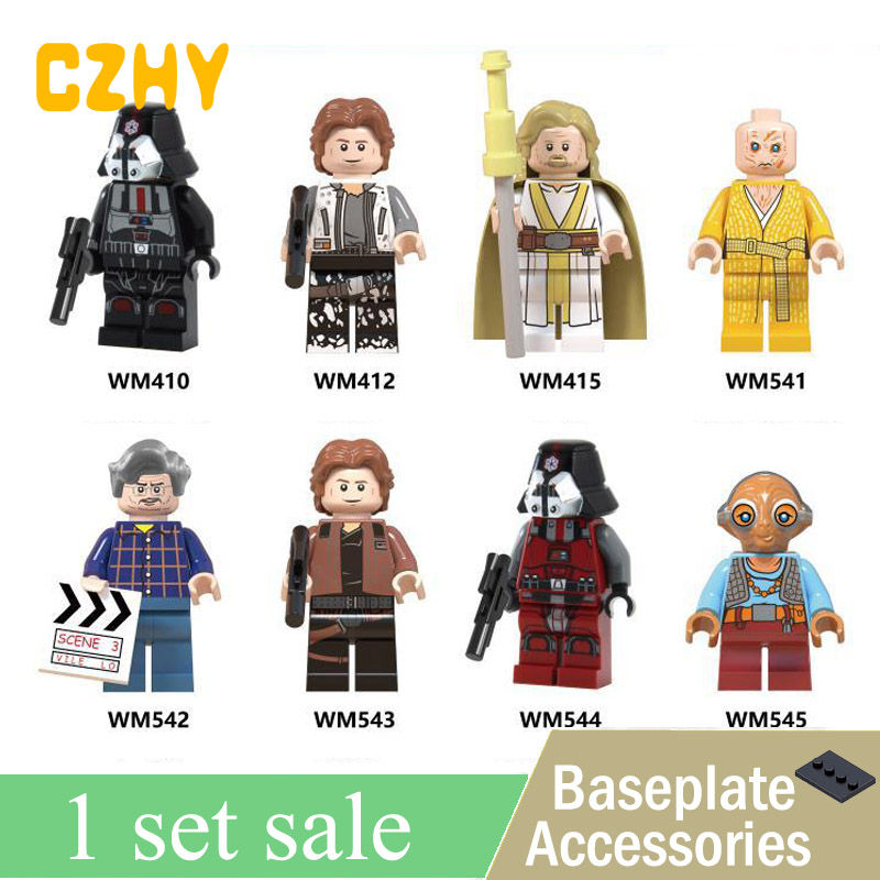Star Wars George Lucas Han Solo Sith Trooper Luke Skywalker Maz Kannata Snoke Building Blocks Toys for Children WM6039 1pc building blocks star wars figures luke skywalker kanan han solo death trooper darth vader action bricks kids diy gift toys