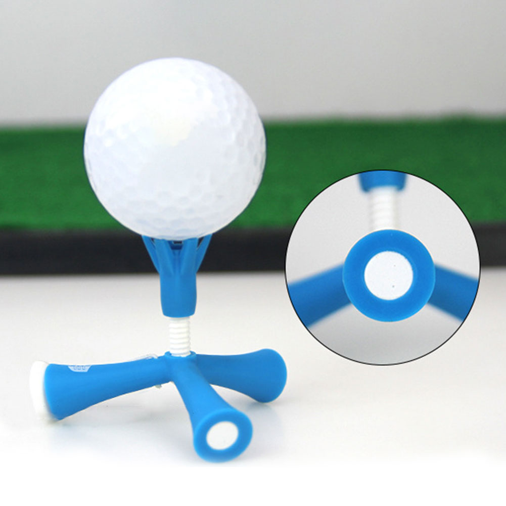 Accessories Easy Outdoor Adjustable Height Ball Holder Mini Golf Tee Rotatable Tripod Aids Anti-flying Self Standing Sport