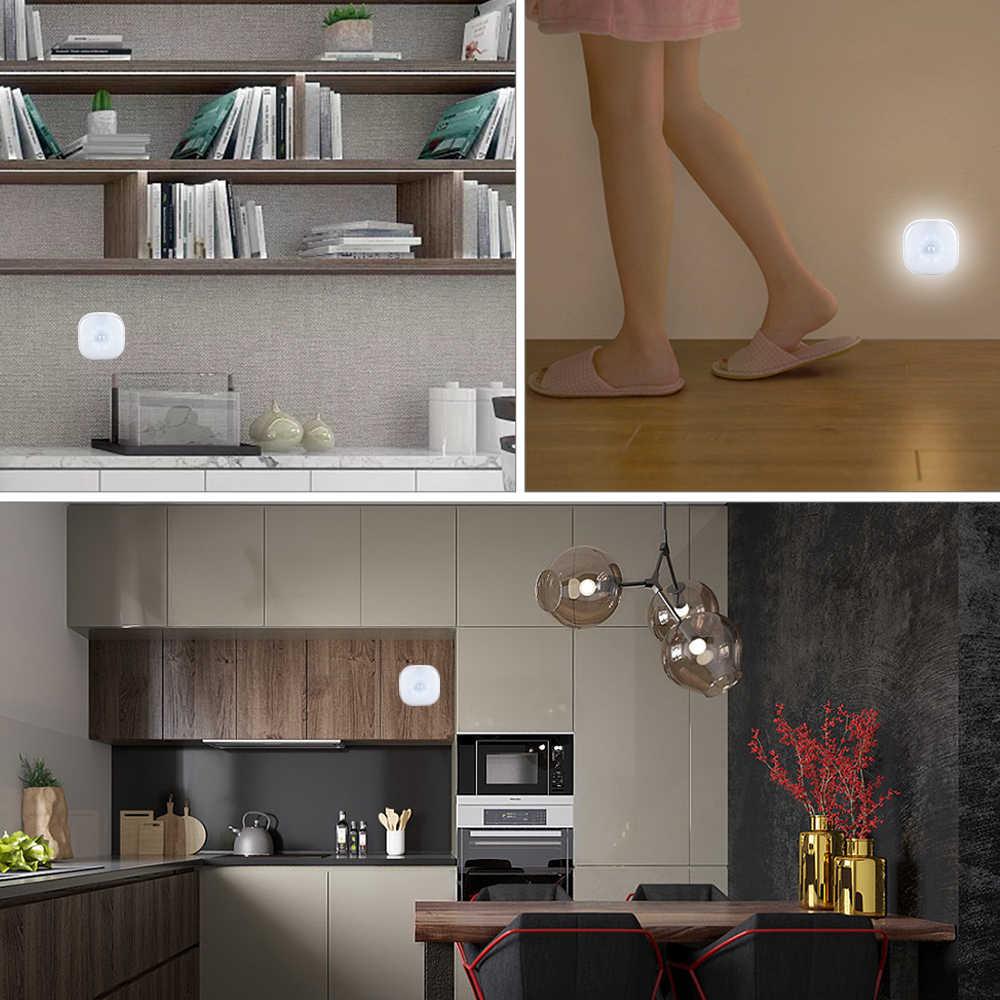 Foxanon под кабинет свет движения PIR Сенсор лампа Беспроводной Smart Светодиодный шайбу ночник для Warbrobe гардероб лестницы Спальня Кухня
