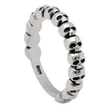 Seanlov Newest Design Hiphop/Rock Cocktail Rings Hot Sale Skull Heads  Silver Color Men And Women Ring Dropshipping