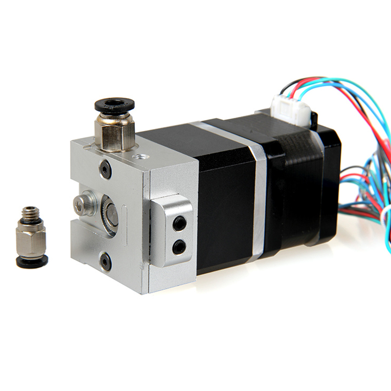 3D printer Bulldog extruder compatible with E3D/J-head/MK8 feeder extruder hot end with 42step motor planetary reducer and tube bulldog extruder head metal