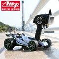 Attop 001 súper fórmula RC Racing Car Control remoto 2.4 G 4CH 1/18 modelo eléctrico del RC coche de goma alta velocidad Kid Toy