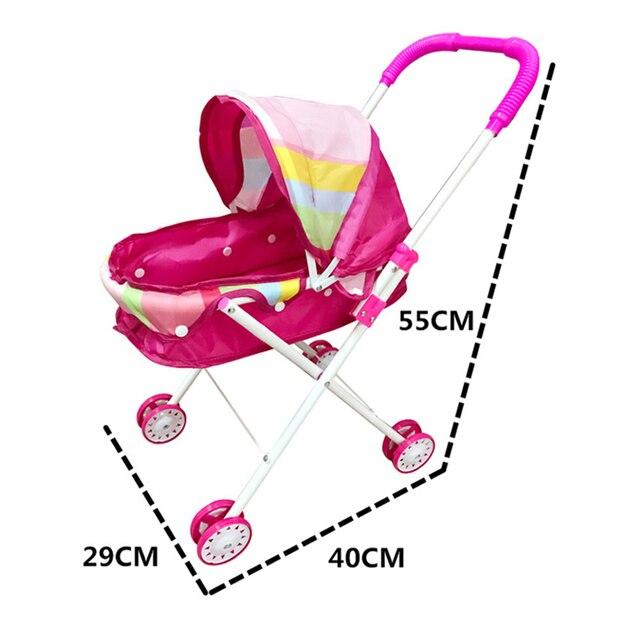 49d9ee575 De los niños jugar juguete cochecito con muñeca de juego juguetes casa  carro bebé cochecito de