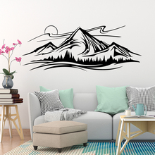 NEW Mountain Peak Home Decor Waterproof Wall Stickers For Baby Kids Rooms Wallpaper Removable Decals Sticker