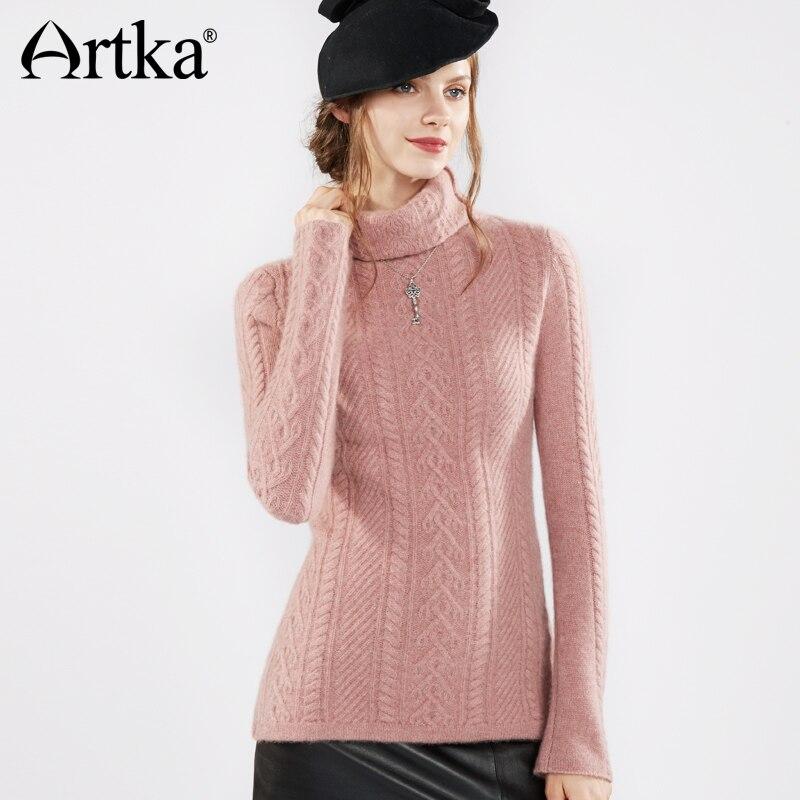 Artka 2018 осень и зима водолазка 100% шерсть очень толстые теплые тонкий Свитера, пуловеры SC10270D