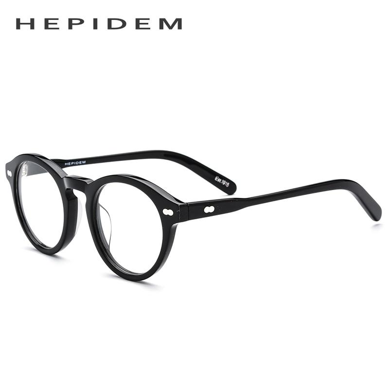 Vintage Runde Retro Myopie Rahmen Frauen Optische Männer Transparent Brillen Acetat Iq6wSt6