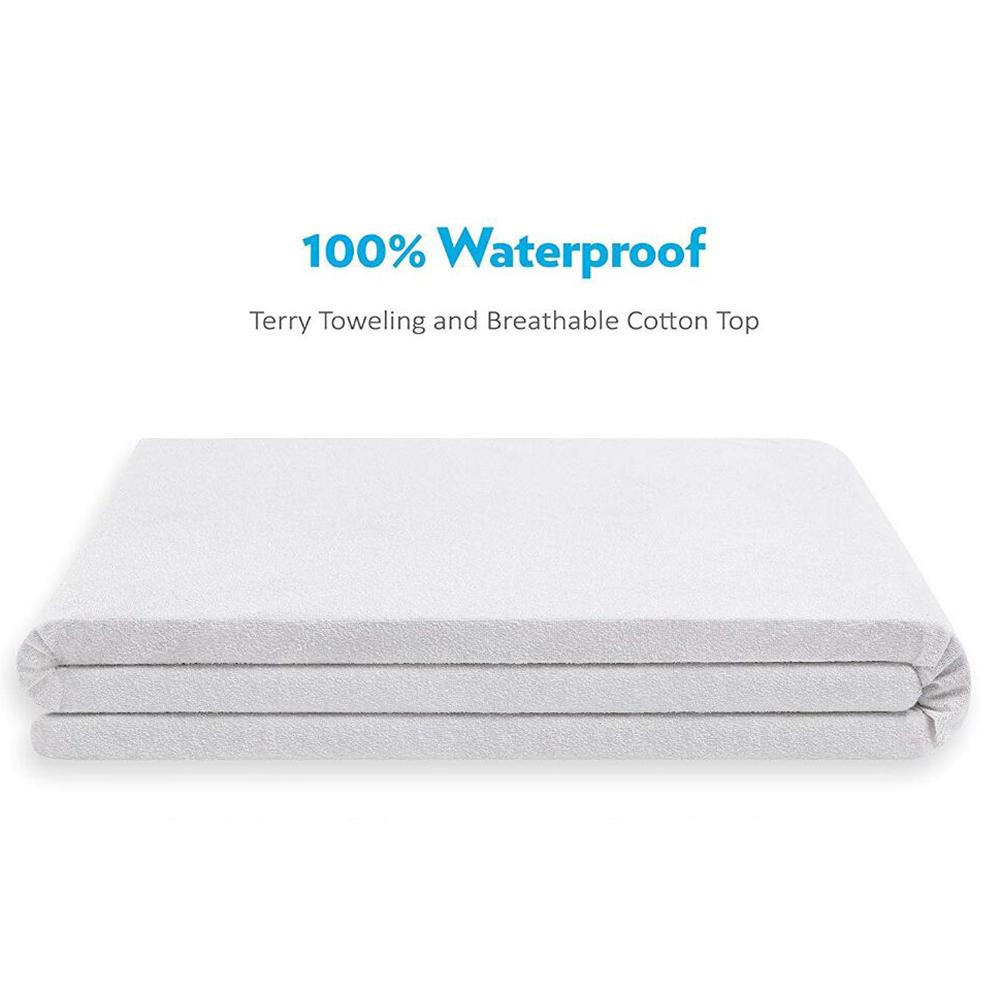 1PCs New Cotton Terry Matress Cover Four Corner Tendon Terry Cloth Waterproof Bed Cover Protector Mattress Protector-in Mattress Covers & Grippers from Home & Garden