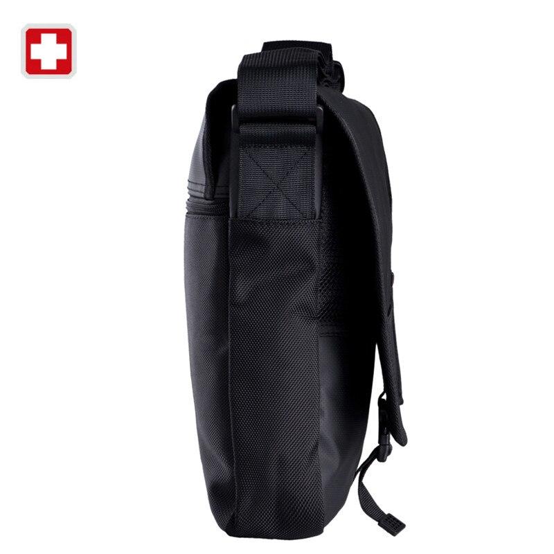 Swisswin Business Casual Messenger Bag Brand Casual Shoulder Bag Medium  Size Black Book Satchels Crossbody Waterproof Zipper Bag-in Crossbody Bags  from ... a84cee98f2