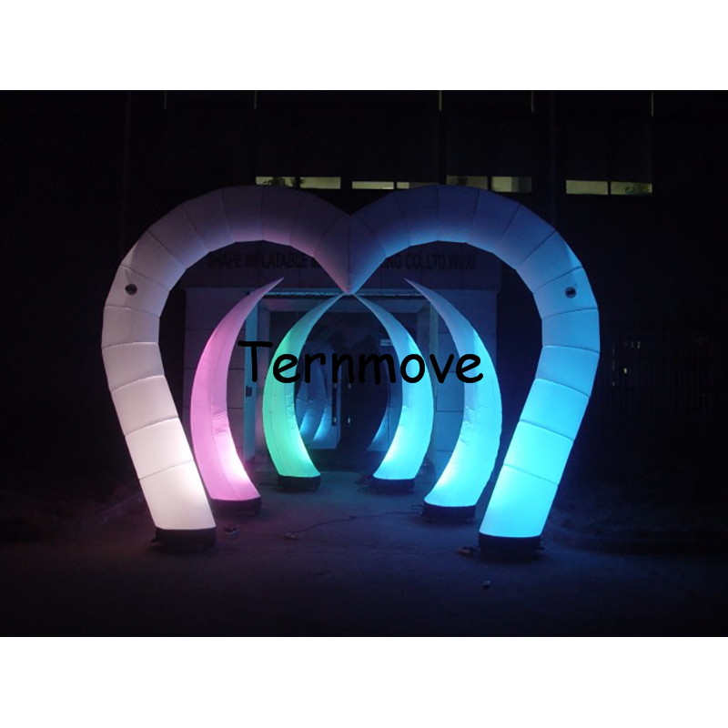inflatable light arch,inflatable airway with LED light,advertising inflatable arch tent for wedding valentine decoration sale free shipping led light up inflatable heart shpe light inflatable lighting 2 4m for valentine s day wedding toy decoration