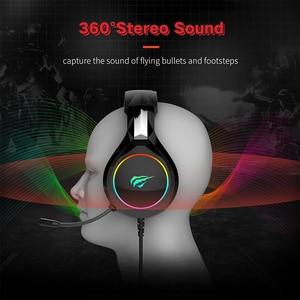 Image 5 - HAVIT Gaming Headset PC USB 3,5mm Wired XBOX / PS4 auriculares con Driver de 50MM, sonido envolvente y micrófono HD para ordenador portátil