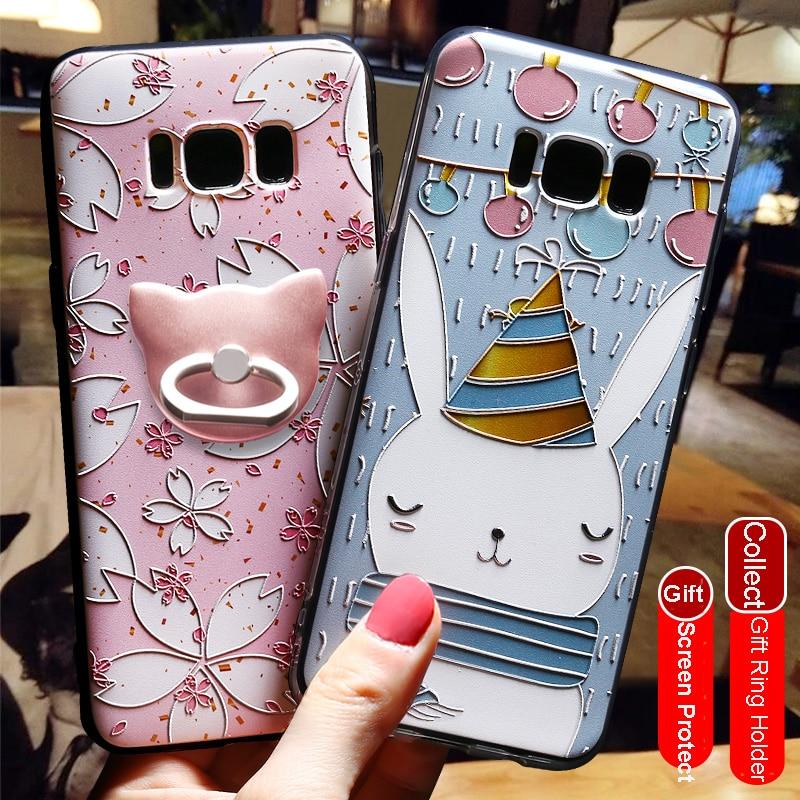 Pentru Samsung Galaxy S8 Plus Acoperire Spate 3D Relief Fashion - Accesorii și piese pentru telefoane mobile